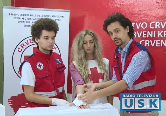 Svjetski dan prve pomoći obilježili su i članovi bihaćkog Crvenog križa