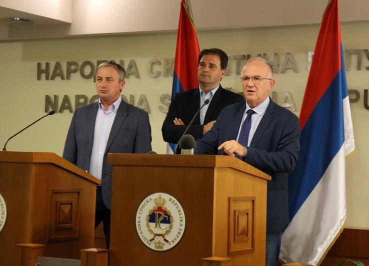 Press konferencija predstavnika opozicije u NSRS