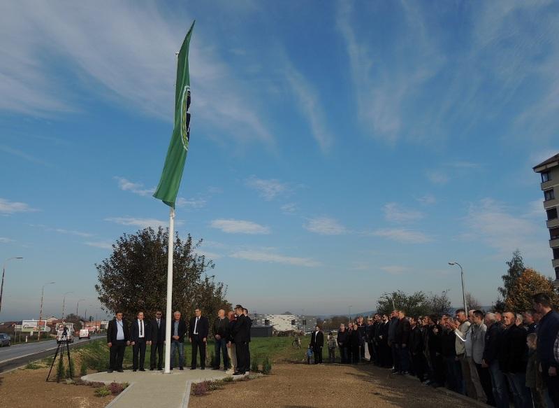 Zastava 5. korpusa na ulazu u Bihać