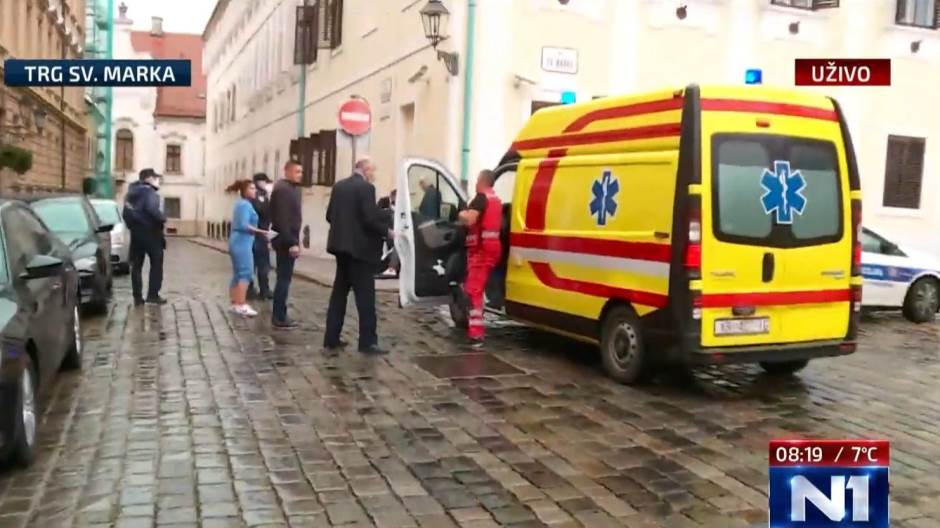 PRED ZGRADOM HRVATSKE VLADE UPUCAN POLICAJAC, NAPADAČ SE UBIO