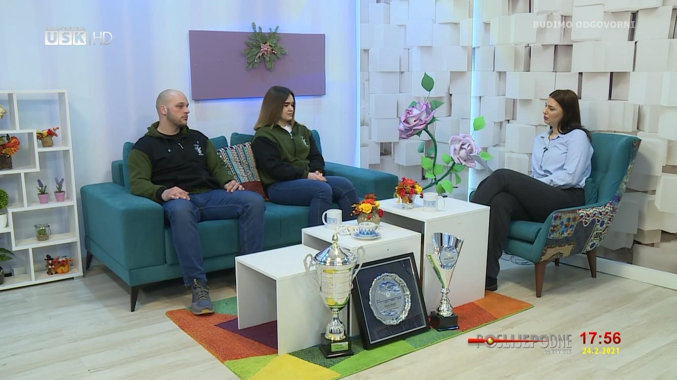 """POSLIJEPODNE UZ RTV USK -GOSTI: HADIS RAMIĆ I HANA PIRALIĆ, JUDO KLUB """"UNA"""" BIHAĆ"""