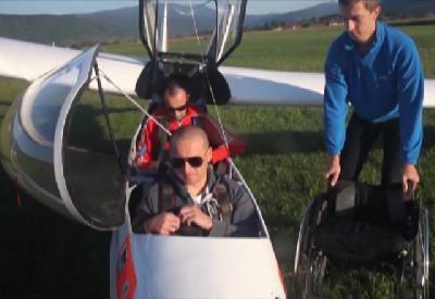 Dino Ljubijankić, letač i član Aero-kluba Bihać