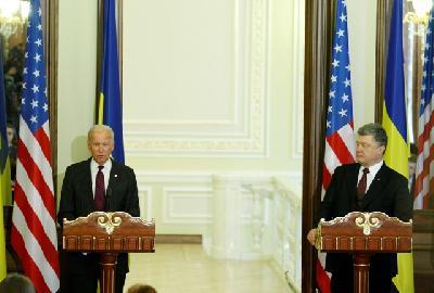 Biden i Porošenko na press konferenciji