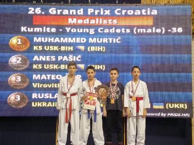 Najuspješniji kadeti Muhammed Murtić, Emil Sadiković i Sinan Paljevac