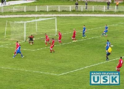 Detalj sa utakmice Jedinstva i Travnika