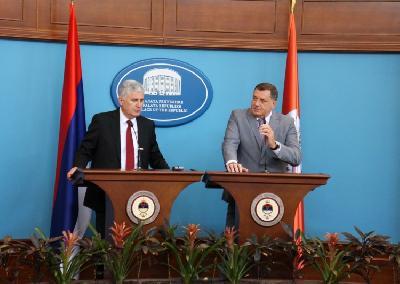 Čović i Dodik na press konferenciji