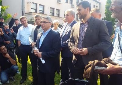 Ministar Bukvarević i kantonalni ministri s borcima
