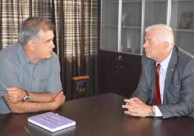 Akademik Mujo Demirović i gradonačelnik Fazlić