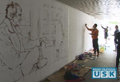 Umjetnici uređuju pasarelu