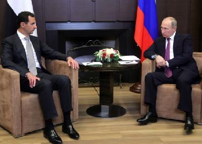 Putin i Assad u Sočiju o stanju u Siriji