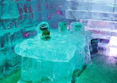 Brojni posjetioci uživaju u onome što ledeni grad nudi