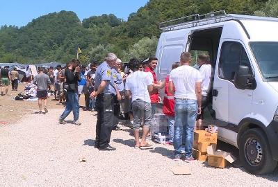 Privremeni migrantski centar u Trnovima