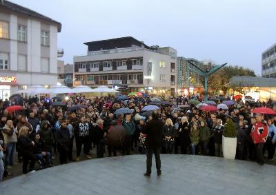 Protest na Gradskomm trgu