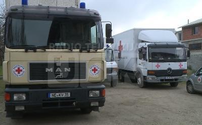Donacija  CK Bavarske u četiri kamiona