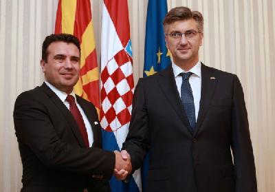 Andrej Plenković i Zoran Zaev
