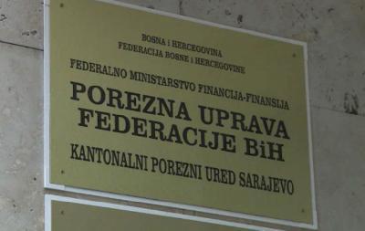 SARAJEVO : PRESS KONFERENCIJA POREZNE UPRAVE FBIH