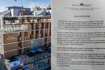 SARAJEVSKI HOTELI EUROPE I HOLIDAY OTPUSTILI SVE RADNIKE