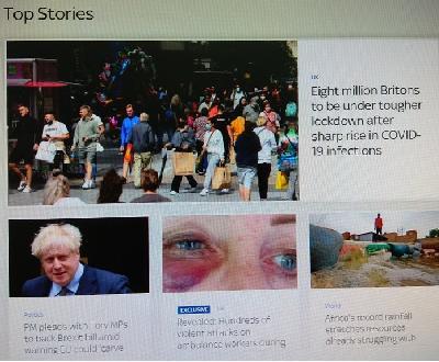 NOVA NORMALNOST: NOVI SKOK BROJA ZARAŽENIH U BRITANIJI, 8 MILIONA GRAĐANA IDE U LOCKDOWN