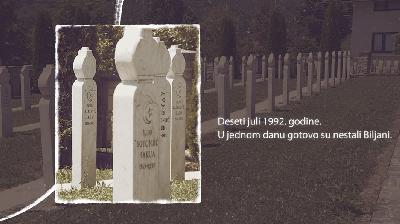 VEČERAS DOKUMENTARNI FILM - NJIH NEMA - BILJANI 1992.