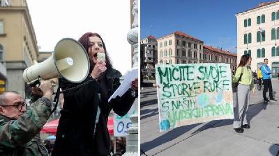 ZAGREB: STOTINJAK GRAĐANA PROSVJEDOVALO PROTIV EPIDEMIOLOŠKIH MJERA