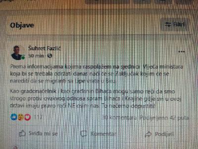 GRADONAČELNIK ŠUHRET FAZLIĆ: U OVOJ DRŽAVI SVI IMAJU PRAVO REĆI NE OSIM NAS...