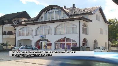 """ODGOVOR REDAKCIJSKOG KOLEGIJA RTV USK-A NA TVRDNJE JKUP """"KOMUNALIJE"""" VELIKA KLADUŠA"""