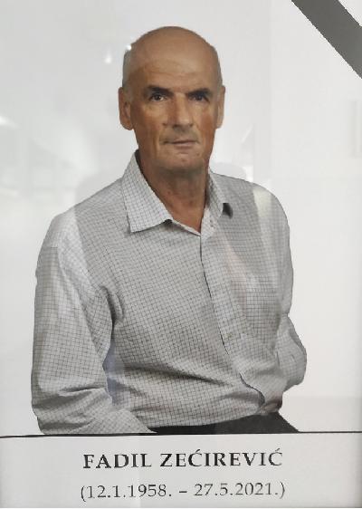IN MEMORIAM: FADIL ZEĆIREVIĆ 12. JANUAR 1958 – 27. MAJ 2021.